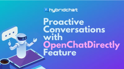 Open-Chat-Directly Feature for Proactive Conversations