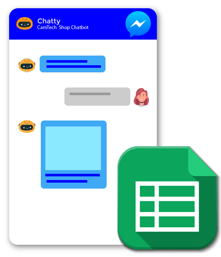 chatbots using spreadsheets